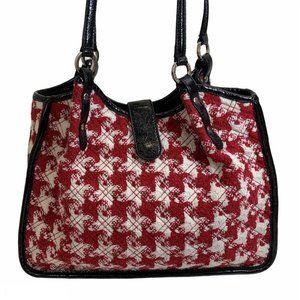 Vera Bradley Red/White Tweed Houndstooth Bag